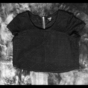 Black guess crop top